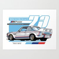 BMW - 3.0 CSL GROUP 2  Art Print