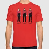 Stages Of Riker Mens Fitted Tee Red SMALL