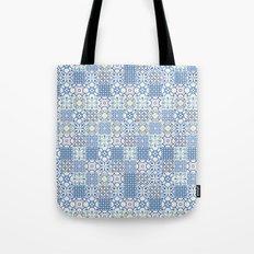 Blue Floor Tile Mashup Tote Bag