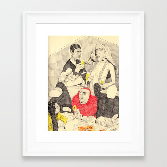 Buffet Framed Art Print