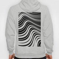 Organic Stripes #08: Black & White version Hoody