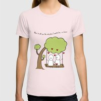 When I'm With You... Womens Fitted Tee Light Pink SMALL
