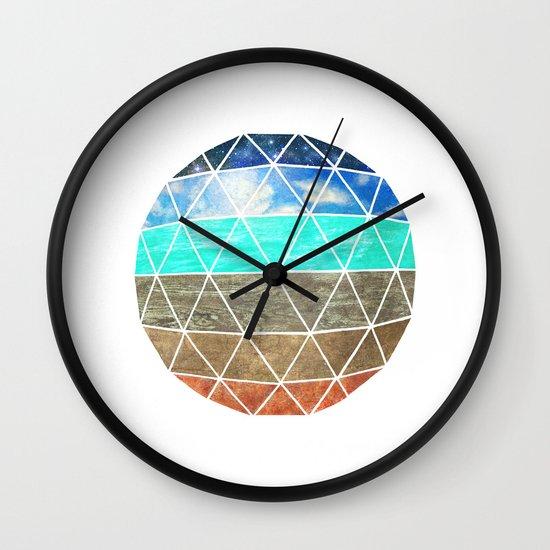 Elemental Geodesic  Wall Clock