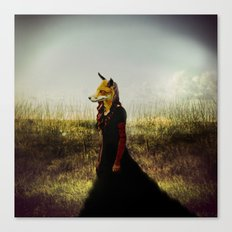 Eyes On The Prize | Fox Lady Canvas Print