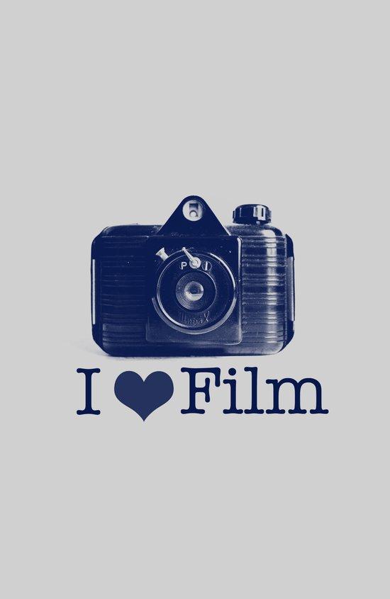 I ♥ Film (Grey/Navy) Canvas Print