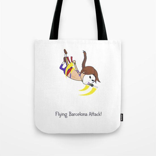 Flying Barcelona Attack Tote Bag