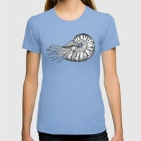 Nautilus Womens Fitted Tee Tri-Blue SMALL