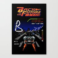 Back To The Videogame Canvas Print