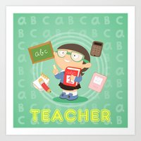 teacher Art Print