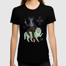 Witch Series: Demon Womens Fitted Tee Black MEDIUM