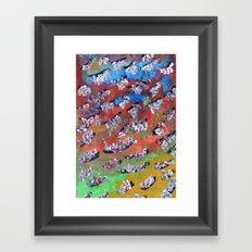 Rainbow Fall Framed Art Print