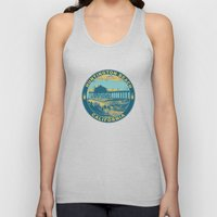 Vintage Huntington Beach Poster Unisex Tank Top