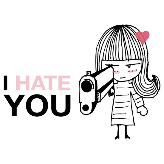 I Hate You / Gun Art Print
