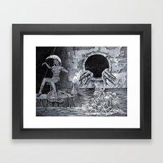 Horror girl Framed Art Print