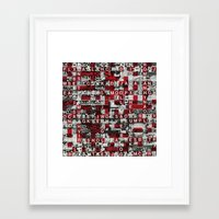 Paradox Network (P/D3 Glitch Collage Studies) Framed Art Print