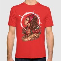 WiTcHeS bE CraZy Mens Fitted Tee Red SMALL