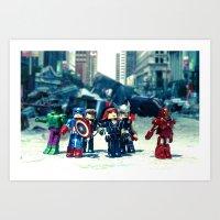 Avenger - Vengadores Art Print