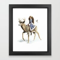 Winter Rider Framed Art Print