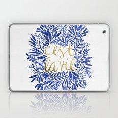 That's Life – Gold & Blue Laptop & iPad Skin