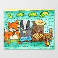 Ice Cream Social Canvas Print