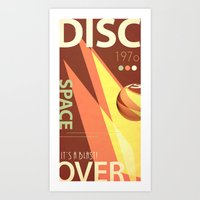 Vintage Space Poster Series II - Discover Space - It's a Blast! Art Print