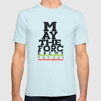 May the Force be with You - Star Wars Eye chart style Movie Poster Mens Fitted Tee Light Blue SMALL