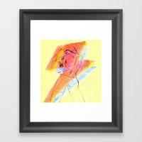 Shock To The Heart Framed Art Print