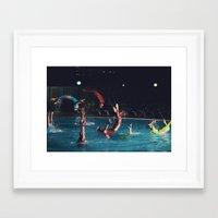 four stages of a backflip Framed Art Print