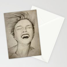 laughing girl Stationery Cards