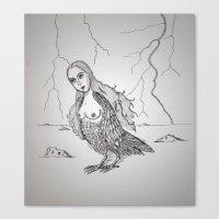 My-thology, the Harpy Canvas Print