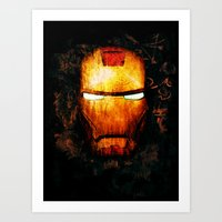 iron man Art Prints featuring Iron Man by Sirenphotos