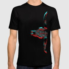 Sidewinded SMALL Black Mens Fitted Tee