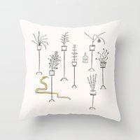 Plants, Snake And Rum. Throw Pillow