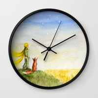 Little Prince, Fox And W… Wall Clock