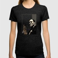 Louis Armstrong Womens Fitted Tee Tri-Black SMALL