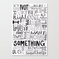 Something About Us Canvas Print