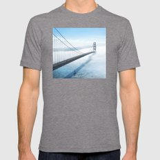 golden gate bridge river Mens Fitted Tee Tri-Grey SMALL
