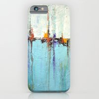 """Abstract White and Blue Painting – Textured Art – """"Sailing""""  iPhone 6 Slim Case"""