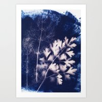 Silhouette Of Parsley An… Art Print