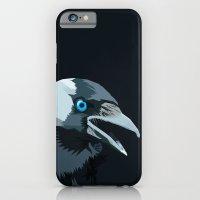 Corvus monedula has a stinking attitude iPhone 6 Slim Case