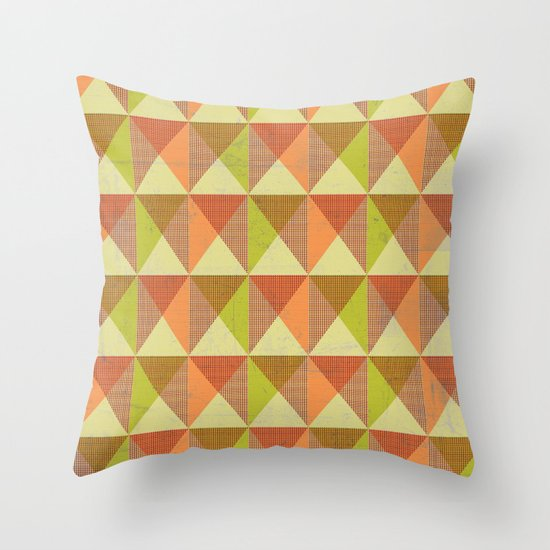 Triangle Diamond Grid Throw Pillow
