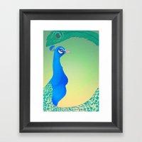 Peacock;Light Framed Art Print