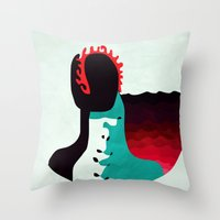 Don't Look Back! Throw Pillow