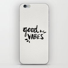 Good Vibes – Black Ink iPhone & iPod Skin