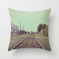 The Train Was On Time... Throw Pillow
