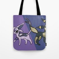 Espeon & Umbreon Anatomy Tote Bag