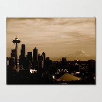 Seattle Skyline Day Canvas Print