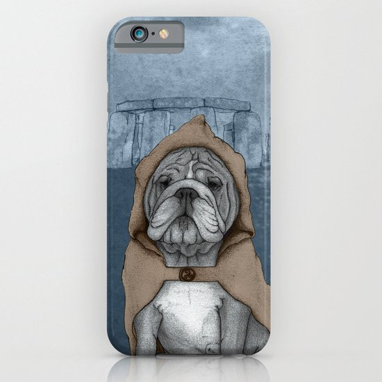 English Bulldog in Stonehenge iPhone & iPod Case
