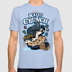 Kaiju Crunch Mens Fitted Tee Tri-Blue SMALL