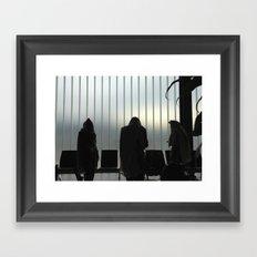 Davening - Airport Framed Art Print